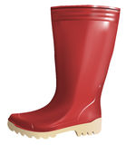 Red rubber boot Royalty Free Stock Image