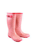 Red rubber boots Stock Images