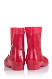 Red Rubber Boots For Kids Stock Photography