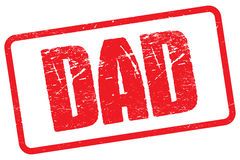 Red Rubber Dad Stamp Royalty Free Stock Image