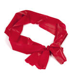 Red Rubber Exercise Band Isolated Royalty Free Stock Photo