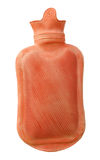 Red rubber hot water bottle Royalty Free Stock Photography