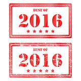 Red rubber stamp Best of 2016. Icon clearance sale Stock Image