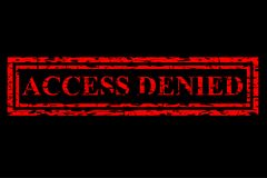 Red Rubber Stamp Effect, Access Denied, at Black Background Royalty Free Stock Image