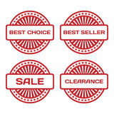 Red Rubber Stamp Set. Royalty Free Stock Photography