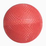 Red Rubber Wall Ball. Isolated on white, includes clipping path Stock Image