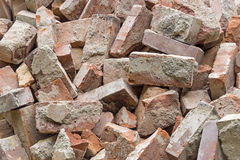 Red rubble stone bricks background Royalty Free Stock Images