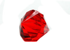 Red ruby gem stones crystals Royalty Free Stock Image