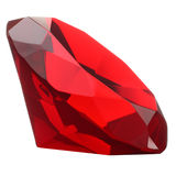 Red Ruby Gemstone. Isolated on white Stock Image