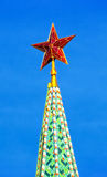 Red ruby star. Moscow Kremlin tower. Stock Images