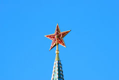 Red ruby star. Moscow Kremlin tower. Stock Photos