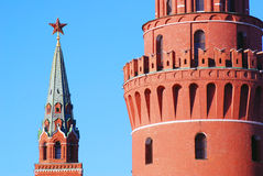 Red ruby star. Moscow Kremlin tower. Stock Photography