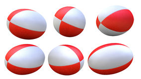 Red rugby ball X6. 3D red rugby ball X6 Royalty Free Stock Photos