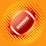 Red Rugby balls and haftone Stock Images