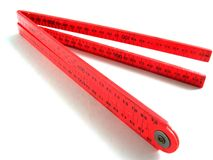 Red ruler Royalty Free Stock Images