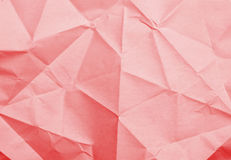 Red rumpled paper texture Royalty Free Stock Images