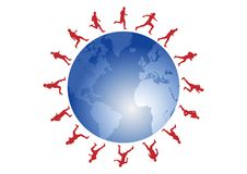 Red runners Royalty Free Stock Images