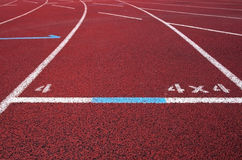 Red running field track Royalty Free Stock Images
