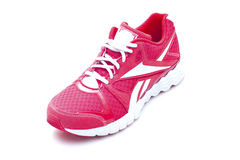 Red running sports shoes Royalty Free Stock Image