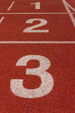 Red Running Track Royalty Free Stock Photography