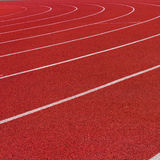 Red Running Track Royalty Free Stock Photo