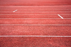 Red running track Stock Photo
