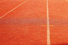 Red running track Royalty Free Stock Image