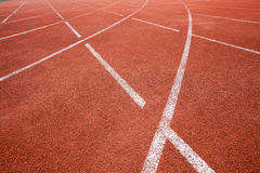 Red running track Stock Photography