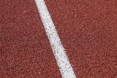 Red running track Royalty Free Stock Photos