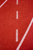 Red running track Synthetic rubber on the athletic stadium. Stock Photography