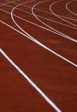 Red running tracks. Running tracks Stock Photo