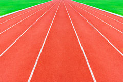 Red running tracks Royalty Free Stock Photography