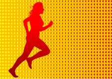 Red running women Royalty Free Stock Photos