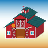 Red rural shed. Royalty Free Stock Photos