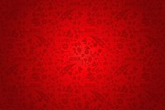 Red Russia background pattern with icons Royalty Free Stock Photo