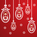 Red russian dolls background Royalty Free Stock Photos