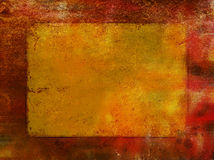 Red rust background with gold leaf Royalty Free Stock Photo