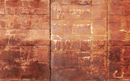 Red rusted metal wall texture Stock Image