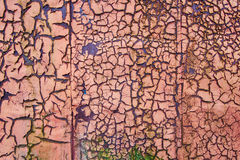 Red rusted textured peeling paint Stock Photography