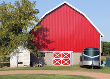 Red rustic barn Stock Images
