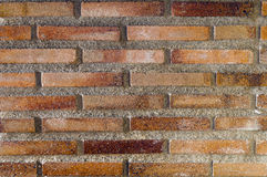 Red rustic brick background texture. Red rustic brick wall and cement, background texture Royalty Free Stock Images