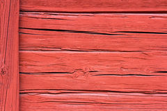 Red rustic texture of an old farmhouse wall Stock Image
