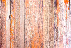 Red rustic woodden board with knots and nail holes, vintage  bac. Kground Stock Photography