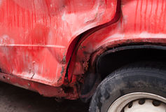 Red rusty car Stock Photography