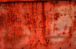Red rusty metal Royalty Free Stock Photo
