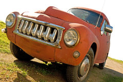 Red rusty vintage car Royalty Free Stock Images