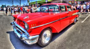 Red 1950s Chevy Stock Photography