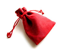Red sachet white background Stock Image
