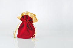 Red  sack isolated Royalty Free Stock Photos
