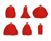 Free Red Sack Santa Claus. Large Holiday Bag For Gifts. Big Bagful For New Year And Christmas Stock Photo - 79296320